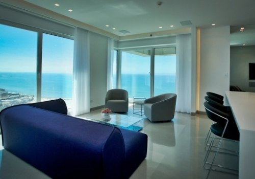 Hayarkon Royal beach apartment 3 room 95sqm Sea view For rent long term in Tel Aviv