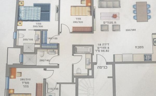 Bat Yam 3 room 90sqm Balcony Apartment for sale in Bat Yam