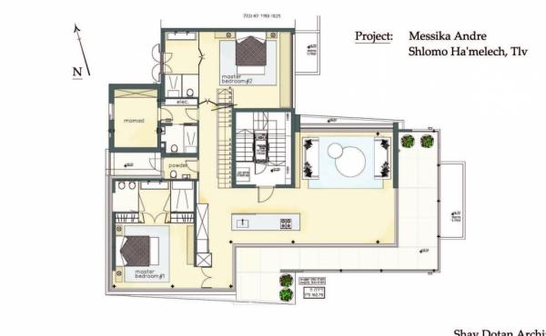 Gordon area 4 room 163sqm Roof 160sqm Terrace 60sqm Parking Apartment for sale in Tel Aviv