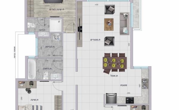 Netanya 5 room 130sqm Balcony Apartment for sale in Netanya