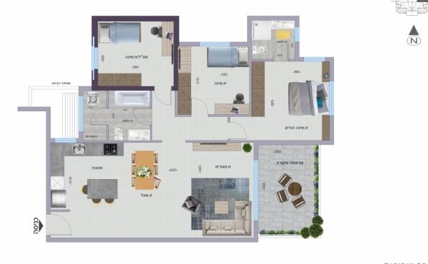 Netanya 4 room 105sqm Balcony 12sqm Apartment for sale in Netanya