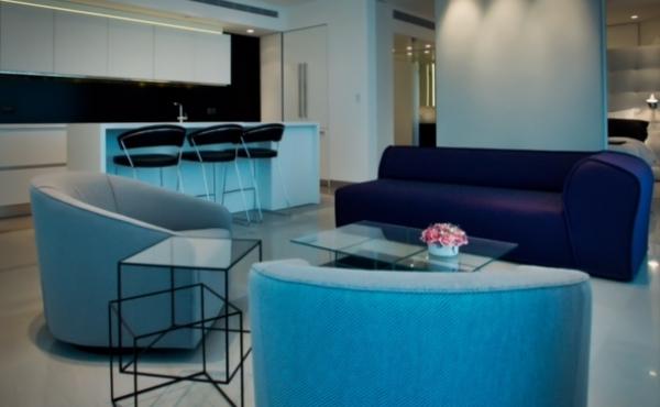 Hayarkon Royal beach apartment 3 room 95sqm Sea view For rent long term in Tel Aviv