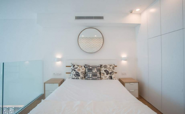 Hayarkon Loft 70sqm Terrace 18sqm Lift Parking Apartment for rent in Telaviv